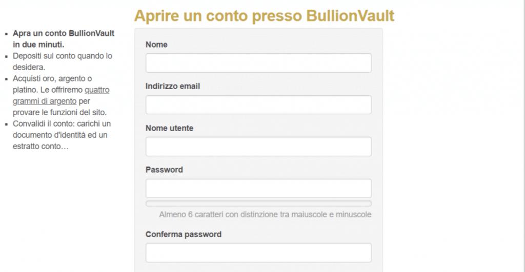 bullionvault come investire