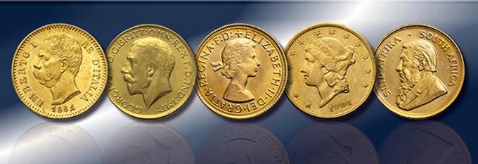 monete d'oro in vendita